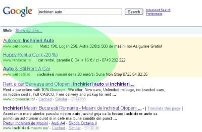 Google AdWords, locatia anunturilor